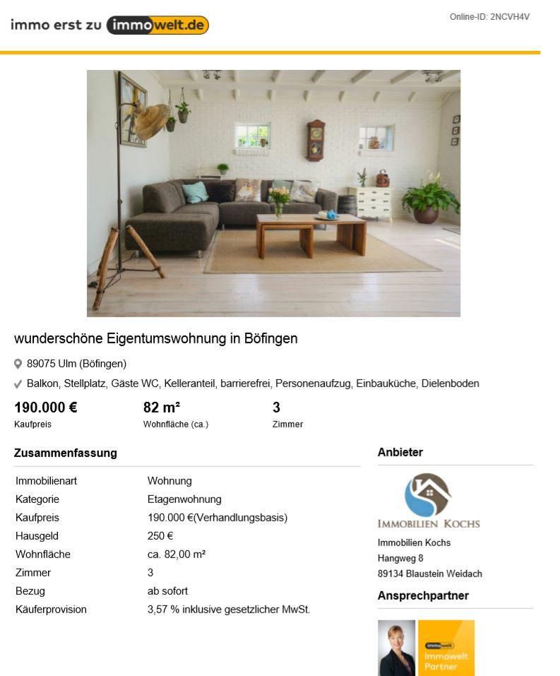 Beispiel Expose Immobilien Kochs