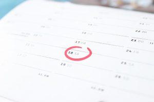 Kalender zur Bestimmung der Spekulationsfrist beim Hausverkauf